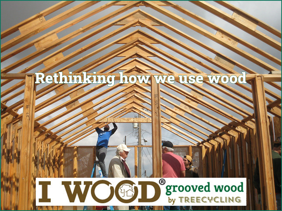 I WOOD Grooved Wood by Treecycling